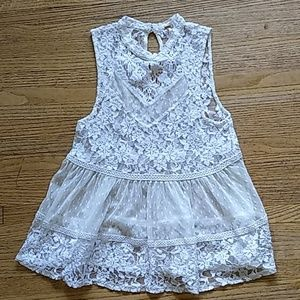 Lace Free People swing top Size XS